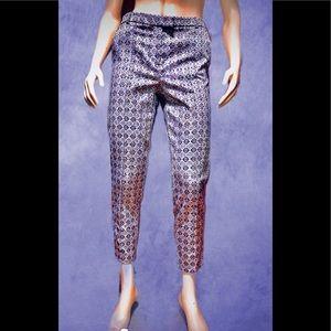 TOPSHOP • Brocade Cropped Pants / size (6) NWOT!